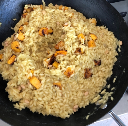 risotto in pan