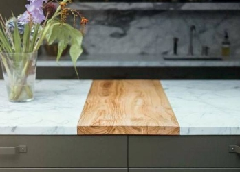 wooden chopping board bench